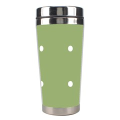 Olive Dots Stainless Steel Travel Tumblers by snowwhitegirl