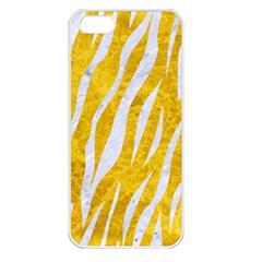 Skin3 White Marble & Yellow Marble Apple Iphone 5 Seamless Case (white) by trendistuff