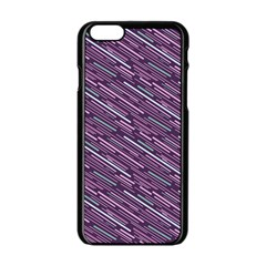 Silly Stripes Apple Iphone 6/6s Black Enamel Case by snowwhitegirl