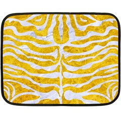 Skin2 White Marble & Yellow Marble Double Sided Fleece Blanket (mini)  by trendistuff