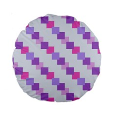Geometric Squares Standard 15  Premium Round Cushions by snowwhitegirl