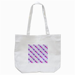 Geometric Squares Tote Bag (white) by snowwhitegirl