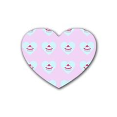 Pink Cupcake Heart Coaster (4 Pack)  by snowwhitegirl