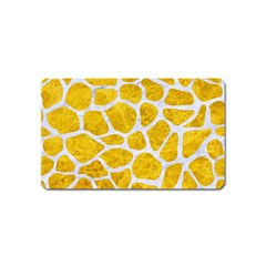 Skin1 White Marble & Yellow Marble (r) Magnet (name Card) by trendistuff
