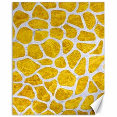 Skin1 White Marble & Yellow Marble (r) Canvas 16  X 20   by trendistuff