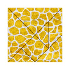 Skin1 White Marble & Yellow Marble (r) Acrylic Tangram Puzzle (6  X 6 ) by trendistuff