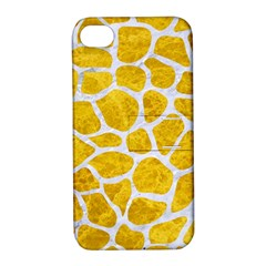 Skin1 White Marble & Yellow Marble (r) Apple Iphone 4/4s Hardshell Case With Stand by trendistuff