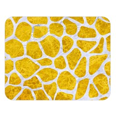 Skin1 White Marble & Yellow Marble (r) Double Sided Flano Blanket (large)
