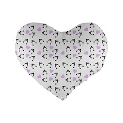 Black Hats Standard 16  Premium Flano Heart Shape Cushions by snowwhitegirl