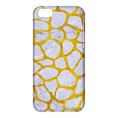 Skin1 White Marble & Yellow Marble Apple Iphone 5c Hardshell Case by trendistuff