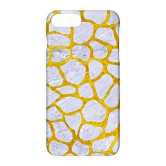 Skin1 White Marble & Yellow Marble Apple Iphone 8 Plus Hardshell Case by trendistuff