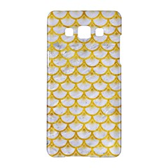 Scales3 White Marble & Yellow Marble (r) Samsung Galaxy A5 Hardshell Case  by trendistuff