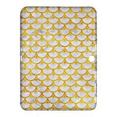 Scales3 White Marble & Yellow Marble (r) Samsung Galaxy Tab 4 (10 1 ) Hardshell Case  by trendistuff