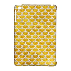 Scales3 White Marble & Yellow Marble Apple Ipad Mini Hardshell Case (compatible With Smart Cover) by trendistuff