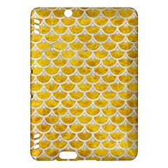 Scales3 White Marble & Yellow Marble Kindle Fire Hdx Hardshell Case by trendistuff