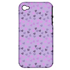Heart Drops Violet Apple Iphone 4/4s Hardshell Case (pc+silicone) by snowwhitegirl