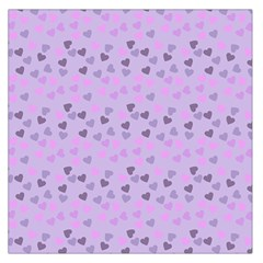 Heart Drops Violet Large Satin Scarf (square) by snowwhitegirl