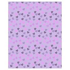 Heart Drops Violet Drawstring Bag (small) by snowwhitegirl