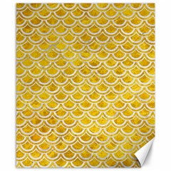 Scales2 White Marble & Yellow Marble Canvas 8  X 10  by trendistuff