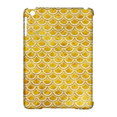 Scales2 White Marble & Yellow Marble Apple Ipad Mini Hardshell Case (compatible With Smart Cover) by trendistuff