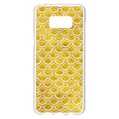 Scales2 White Marble & Yellow Marble Samsung Galaxy S8 Plus White Seamless Case by trendistuff