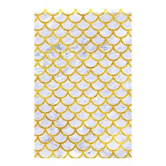 Scales1 White Marble & Yellow Marble (r) Shower Curtain 48  X 72  (small)  by trendistuff