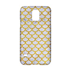 Scales1 White Marble & Yellow Marble (r) Samsung Galaxy S5 Hardshell Case  by trendistuff