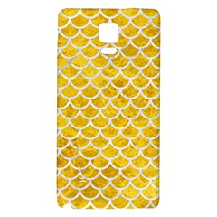 Scales1 White Marble & Yellow Marble Galaxy Note 4 Back Case by trendistuff