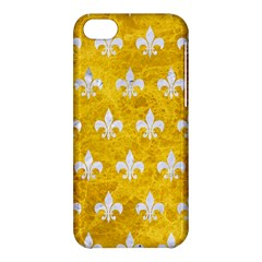Royal1 White Marble & Yellow Marble (r) Apple Iphone 5c Hardshell Case by trendistuff