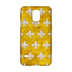 Royal1 White Marble & Yellow Marble (r) Samsung Galaxy S5 Hardshell Case  by trendistuff