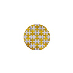 Puzzle1 White Marble & Yellow Marble 1  Mini Magnets by trendistuff