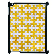 Puzzle1 White Marble & Yellow Marble Apple Ipad 2 Case (black) by trendistuff