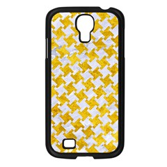 Houndstooth2 White Marble & Yellow Marble Samsung Galaxy S4 I9500/ I9505 Case (black) by trendistuff