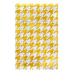 Houndstooth1 White Marble & Yellow Marble Shower Curtain 48  X 72  (small)  by trendistuff