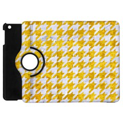 Houndstooth1 White Marble & Yellow Marble Apple Ipad Mini Flip 360 Case by trendistuff