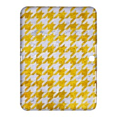 Houndstooth1 White Marble & Yellow Marble Samsung Galaxy Tab 4 (10 1 ) Hardshell Case  by trendistuff