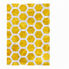 Hexagon2 White Marble & Yellow Marble Small Garden Flag (two Sides) by trendistuff
