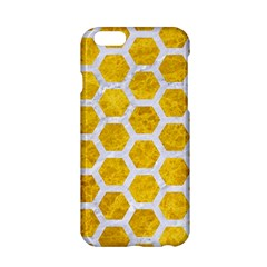 Hexagon2 White Marble & Yellow Marble Apple Iphone 6/6s Hardshell Case by trendistuff
