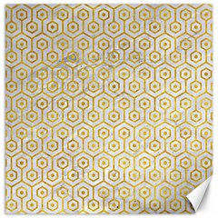 Hexagon1 White Marble & Yellow Marble (r) Canvas 20  X 20   by trendistuff