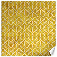 Hexagon1 White Marble & Yellow Marble Canvas 16  X 16   by trendistuff