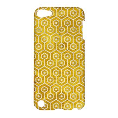 Hexagon1 White Marble & Yellow Marble Apple Ipod Touch 5 Hardshell Case by trendistuff