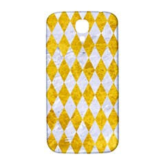 Diamond1 White Marble & Yellow Marble Samsung Galaxy S4 I9500/i9505  Hardshell Back Case by trendistuff