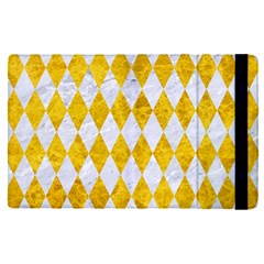 Diamond1 White Marble & Yellow Marble Apple Ipad Pro 9 7   Flip Case by trendistuff