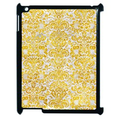 Damask2 White Marble & Yellow Marble (r) Apple Ipad 2 Case (black) by trendistuff