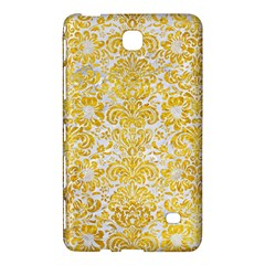 Damask2 White Marble & Yellow Marble (r) Samsung Galaxy Tab 4 (7 ) Hardshell Case  by trendistuff