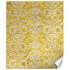 Damask2 White Marble & Yellow Marble Canvas 20  X 24   by trendistuff