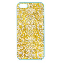 Damask2 White Marble & Yellow Marble Apple Seamless Iphone 5 Case (color) by trendistuff