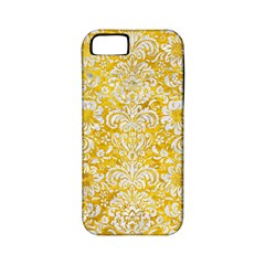 Damask2 White Marble & Yellow Marble Apple Iphone 5 Classic Hardshell Case (pc+silicone) by trendistuff