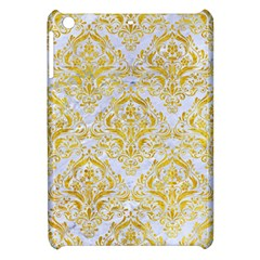 Damask1 White Marble & Yellow Marble (r) Apple Ipad Mini Hardshell Case by trendistuff