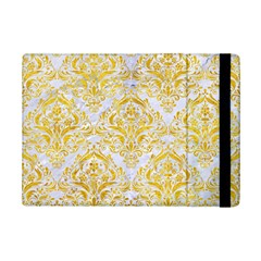 Damask1 White Marble & Yellow Marble (r) Ipad Mini 2 Flip Cases by trendistuff